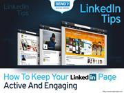 LinkedIn Tips – How To Keep Your LinkedIn Page Active And Engaging