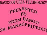 BASICS OF UREA TECHNOLOGY