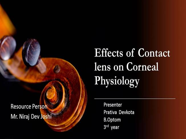 Effects of Contact Lens on Corneal Physiology  authorSTREAM