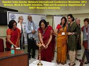 Sweden India Gender Network International Conference Nov. 2013