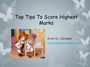 Top Tips To Score Highest Marks