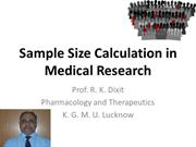 Sample size calculation for any medical research work