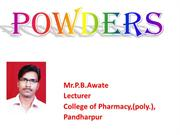 Powder- Solid dosage form ppt