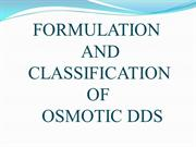 Formulation and classification of osmotic drug delivery system