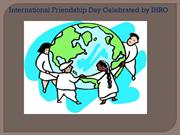 International Friendship Day Celebrated by IHRO