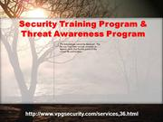 Security Training Program & Threat Awareness Program