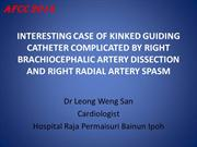 INTERESTING CASE OF KINKED GUIDING CATHETER COMPLICATED BY BRACHIOCEPH