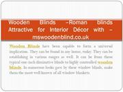 Wooden Blinds-Roman blinds  Attractive for Interior Décor with-mswoode
