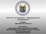 FATCA & Tax Compliance – Emerging Issues & Developments