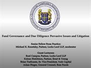 RCA  Fund Governance and Due Diligence Pervasive Issues and Litigation