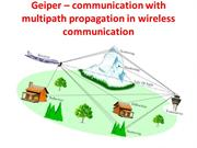 Geiper – communication with multipath propagation in wireles