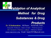 Method_Validation_for drug substances and drug product _remodified_201