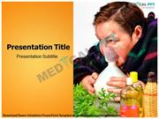 Steam Inhalation PowerPoint Template - Medical PPT Templates