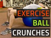 Exercise Ball Crunch - Train Abs Without Back Pain