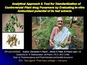 Novel Analytical tool for Controversial herbal drug containg products