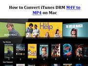Convert iTunes DRM Protected M4V Videos to MP4