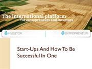 Start-Ups And How To Be Successful In One