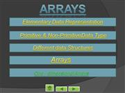 Arrays  Presentation  in  C++