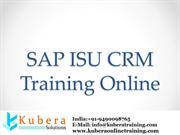 SAP ISU CRM Online Training And SAP ISU CRM Training Online