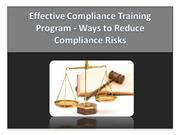 Effective Compliance Training Program - Ways to Reduce Risks