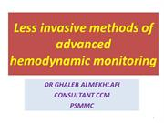 methods of advanced hemodynamic monitoring