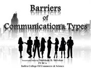 Barriers of Communication & its Types