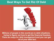 Best Ways To Get Rid Of Debt