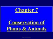Grade 8. Ch 7. Conservation of Plants and Animals
