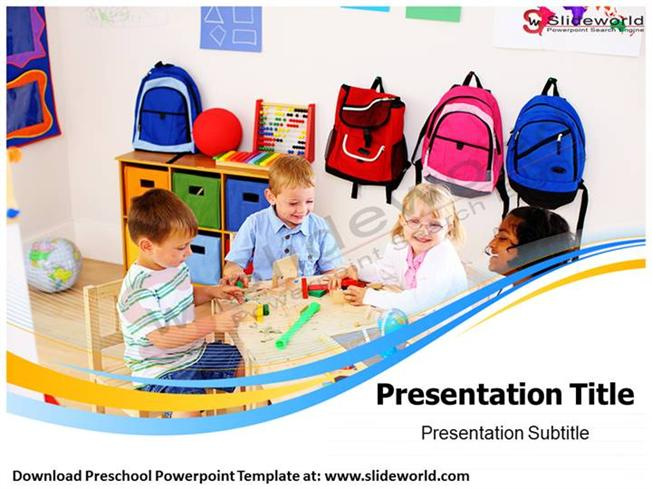 preschool powerpoint template - slide world |authorstream, Modern powerpoint