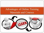 Advantages of Online Training Materials and Courses