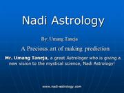 A Precious art of making prediction by Umang Taneja