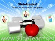 FRUITS ARE SECRET OF FITNESS POWERPOINT TEMPLATE