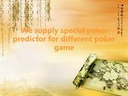 We supply special poker predictor for different poker game