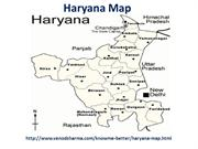 Haryana Map | Map of Haryana