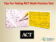 Tips For Taking ACT Math Practice Test