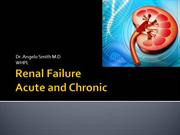 RENAL FAILURE - ACUTE AND CHRONIC