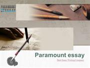 Paramount Essay- Best Essay Writing Company