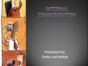 internal communication....