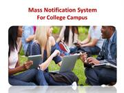 Mass Notification System For College