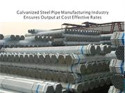 Galvanized Steel Pipe Manufacturing Industry