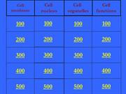 Cell Structure and Function-jeopardy