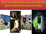 Win Your Sports Bet with the Valuable Sports Selection Assistance
