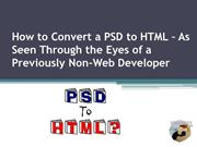 How to Convert a PSD to HTML - HTMLGuys