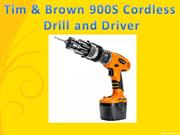 Tim & Brown 900S Cordless Drill and Driver-link