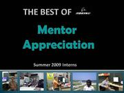 Mentor Appreciation