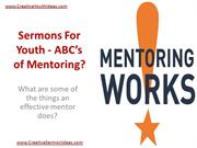 Sermons For Youth - ABC's of Mentoring