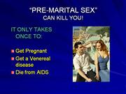 Premarital sex can kill you!