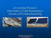 Solar Power Mission India