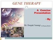 Gene Therapy Slides ppt