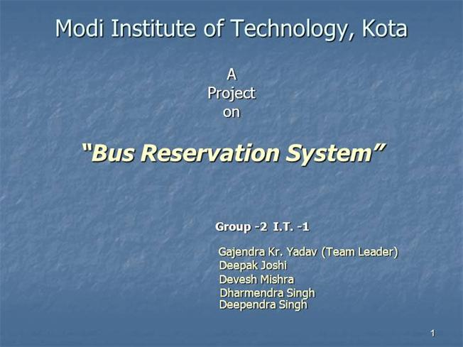 Bus Reservation System |authorSTREAM